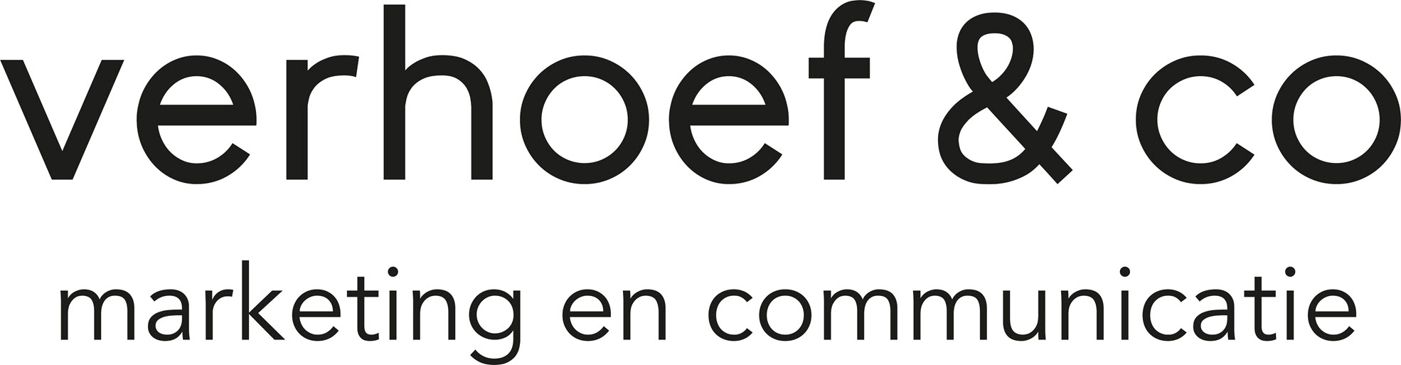 Logo - Verhoef &co - Zwart